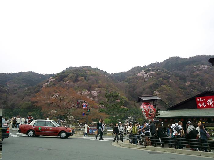 chegando ao centro de arashiyama