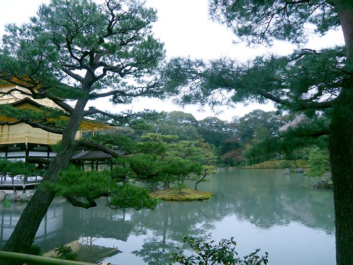 jardim japonês Kinkakuji