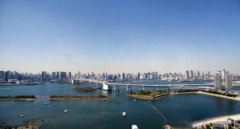 vista maravilhosa da baia de toquio