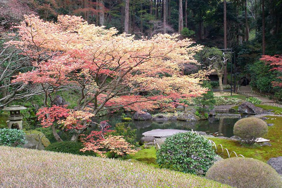 Jardim japonês no solo sagrado