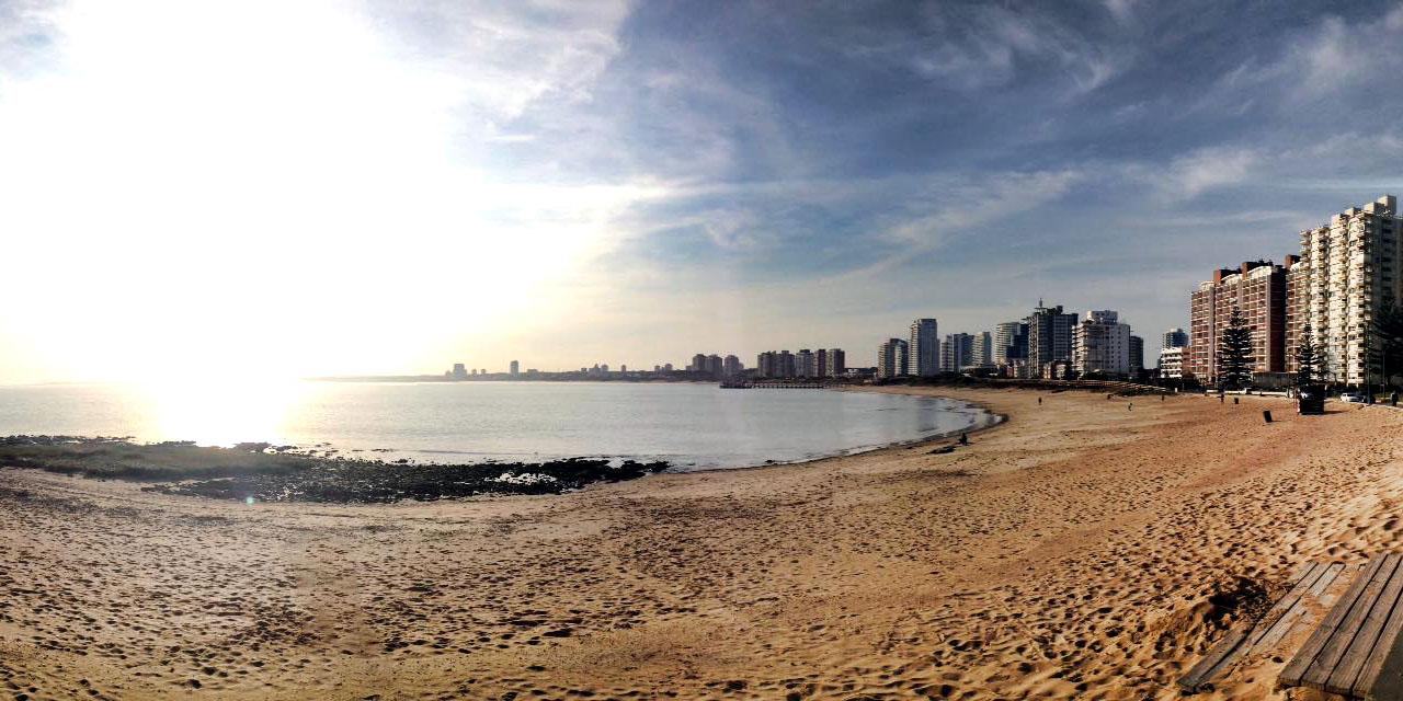 Vista da Playa Mansa em Punta del Este