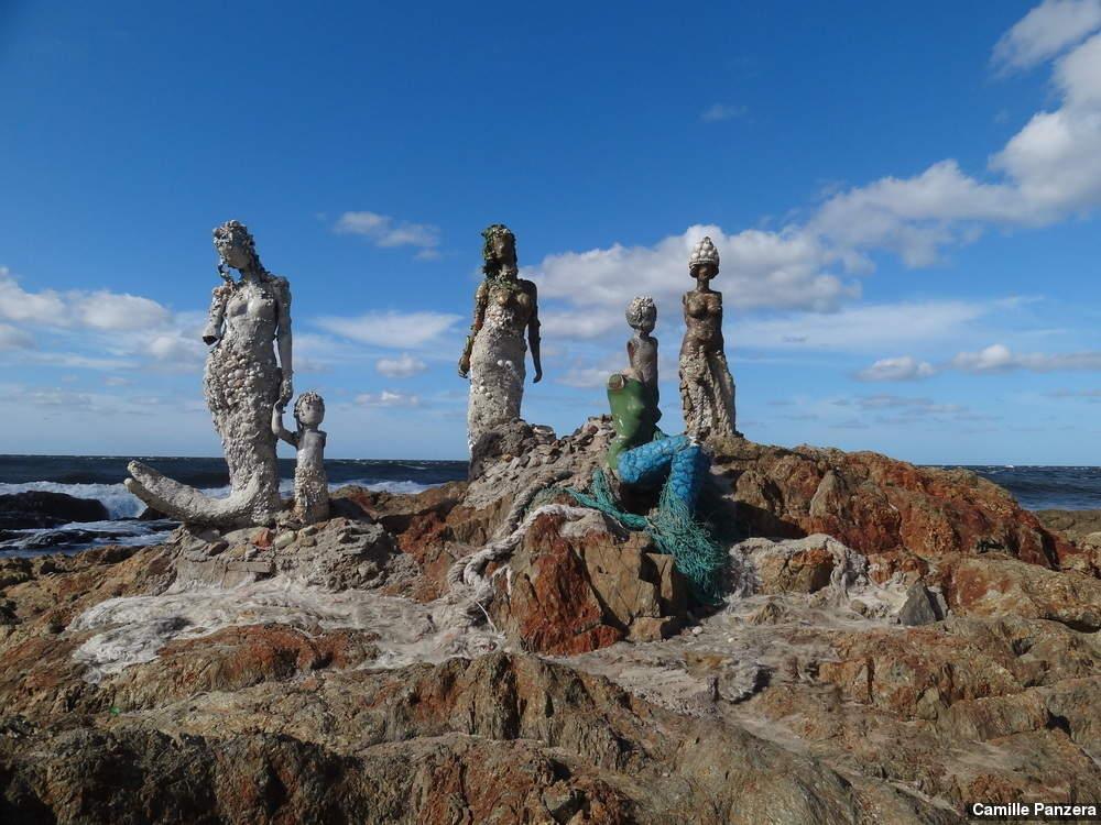 Sereias de la plazoleta em Punta del Este