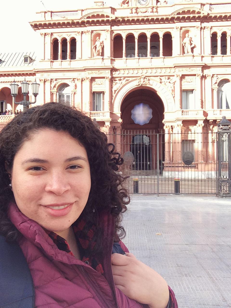 Selfie do dia na Casa Rosada