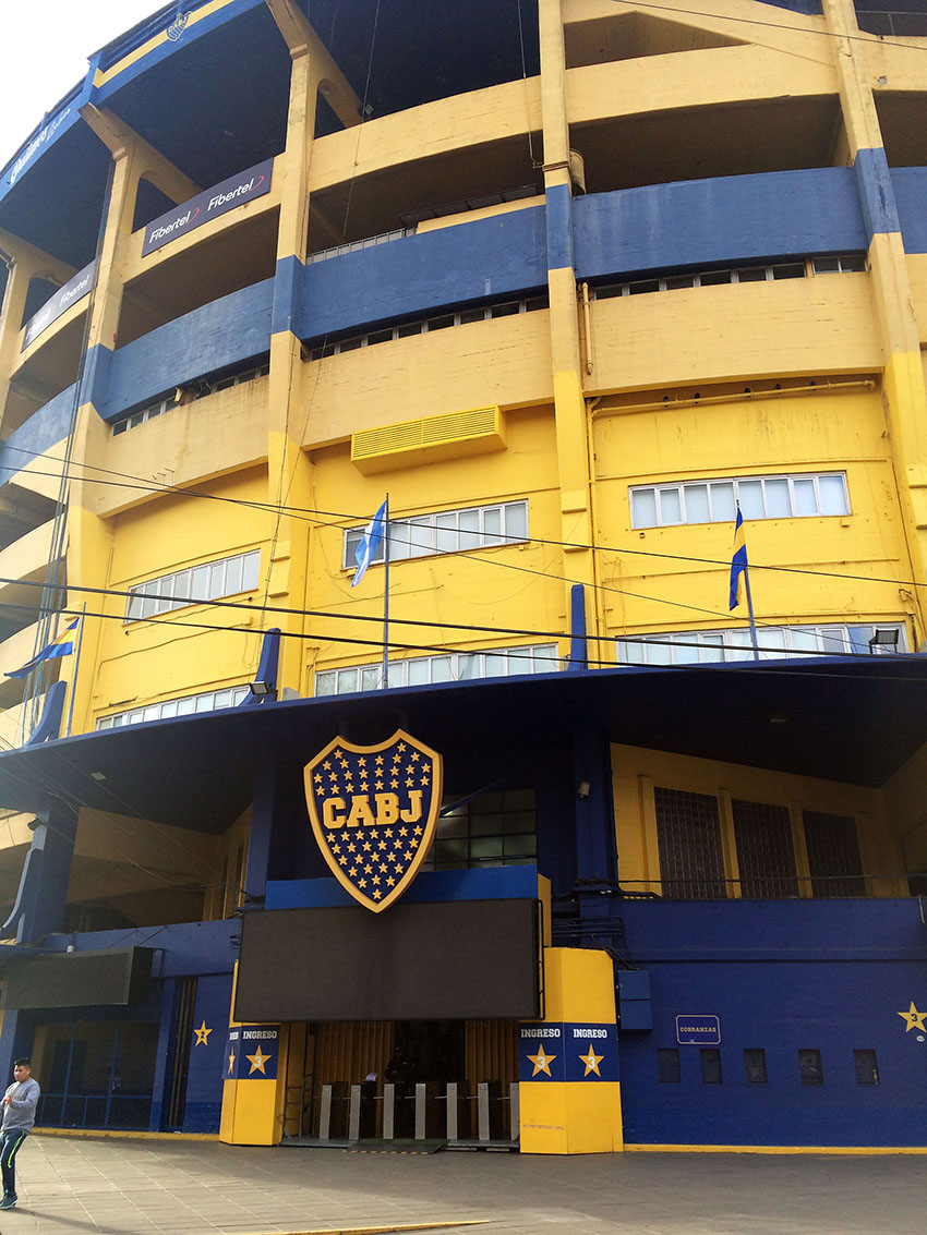 "Estádio ""La Bombonera"" do Boca Juniors"
