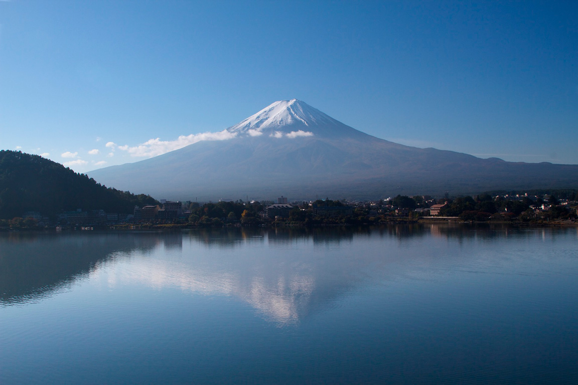 Lago-Kawaguchiko-Monte-Fuji---reflexo-no-lago