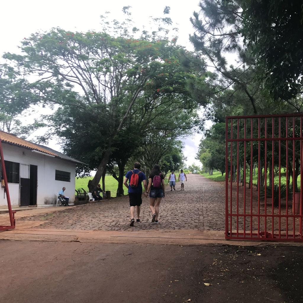 Entrada do Templo Budista em Foz do Iguaçu