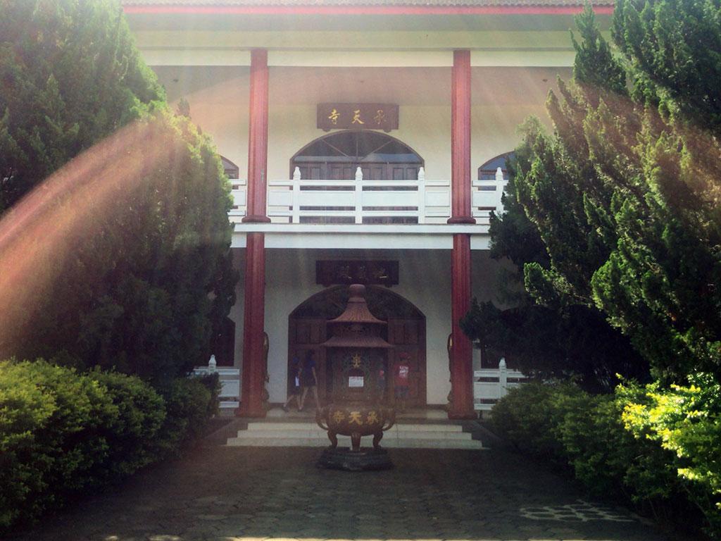 Templo como salão principal e casa do mestre budista